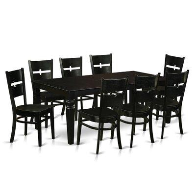 Delbarton 9 Piece Dining Set Color: Black