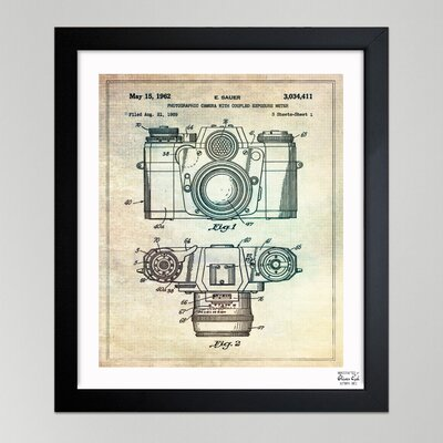 "Oliver Gal ""Sauer Photographic Camera, 962"" Framed Graphic Art"