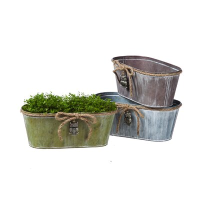 Vintage Oval Pot Planter