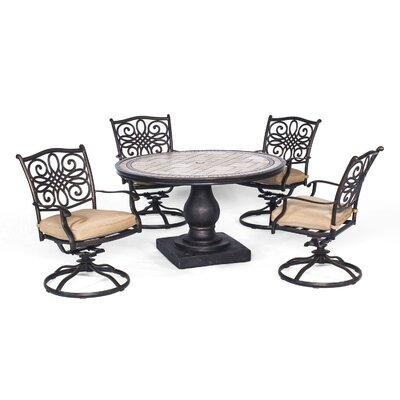 Bucci 5 Piece Dining Set with Cushion