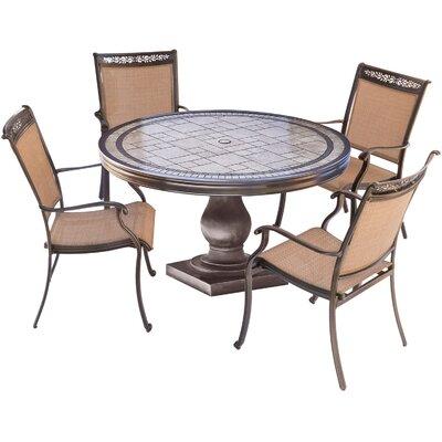 Bucher 5 Piece Outdoor Dining Set