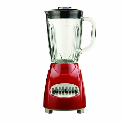 12 Speed Blender with Glass Jar Color: Red