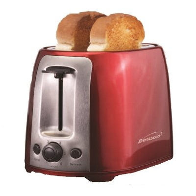 2 Slice Cool Touch/Wide Slot Toaster Color: Red