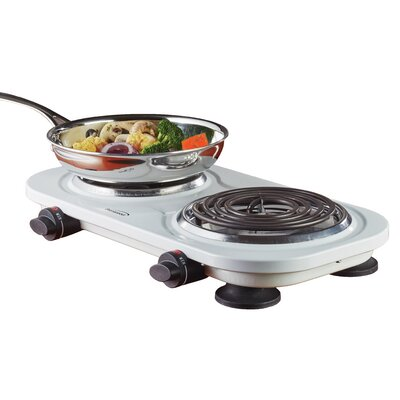 Electric Double Burner Color: White