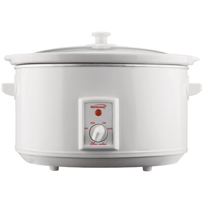 8-Quart Slow Cooker Color: White