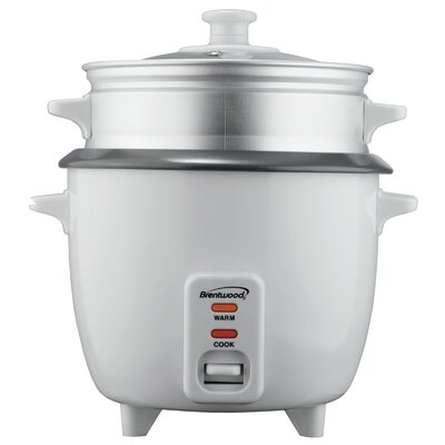 4 Cup Nonstick Rice Cooker with Steamer