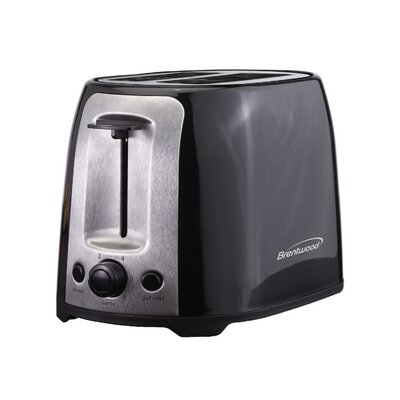 2 Slice Cool Touch/Wide Slot Toaster Color: Black