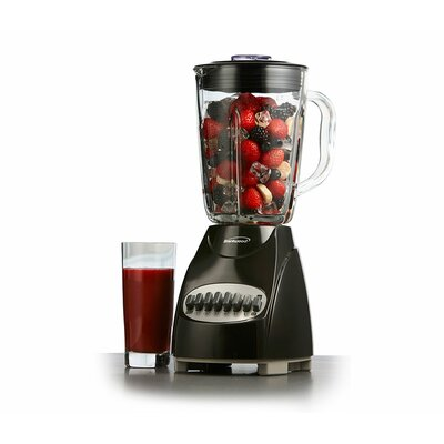 12 Speed Blender with Glass Jar Color: Black