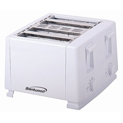 4-Slice Toaster Color: White