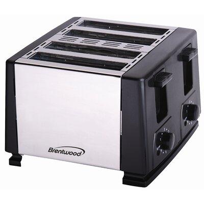 4-Slice Toaster Color: Black