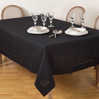 """Malm Hemstitched Tablecloth Color: Terracotta, Size: 104"""" W x 65"""" L"""