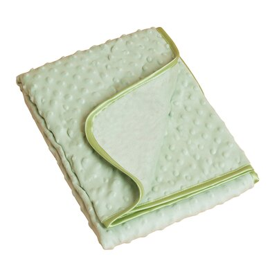 Saro Plush Raised Dots Baby Blanket