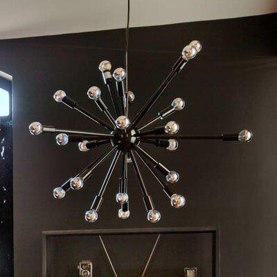 Sergei 24-Light Sputnik Pendant Finish: Black