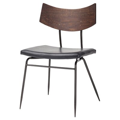 Side Chair Finish: Black & Walnut