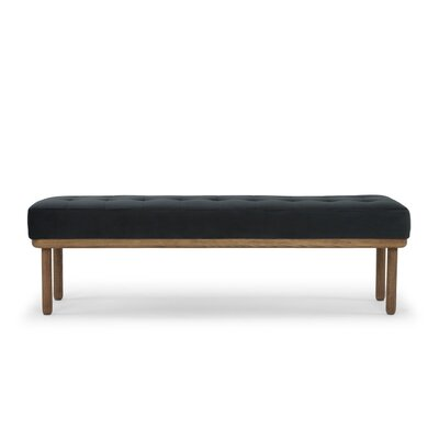 Dismuke Upholstered Bench Upholstery: Shadow Gray