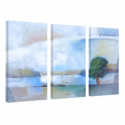 "Trademark Fine Art ""Landscape in Light"" by Adam Kadmos 3 Piece Painting Print on Wrapped Canvas Set"