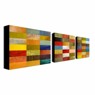 Trademark Fine Art Eye Candy by Michelle Calkins 3 Piece Painting Print on Canvas Set