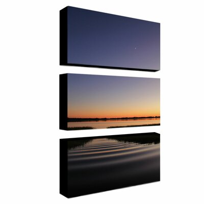 """Trademark Fine Art """"Sun Down Moon Up"""" by Patty Tuggle 3 Piece Photographic Print on Wrapped Canvas Set"""