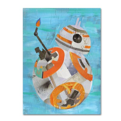 """'Bb8' Graphic Art Print on Wrapped Canvas Size: 19"""" H x 14"""" W"""