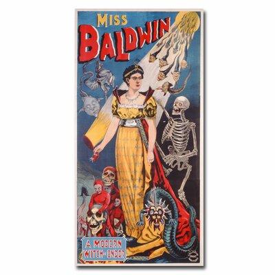 "Trademark Fine Art ""Miss Baldwin a Modern Witch of Endor, 1888"" Vintage Advertisement on Canvas"