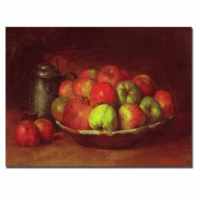 """Trademark Fine Art """"Still Life with Fruit, 1871-72"""" by Gustave Courbet Painting Print on Canvas"""