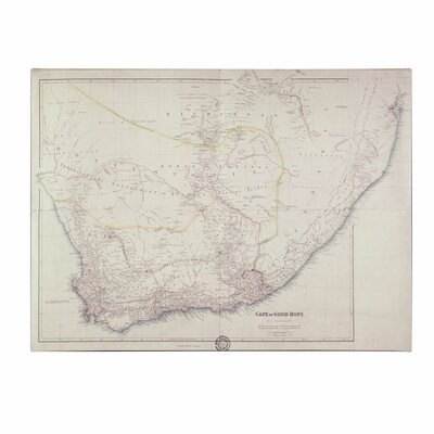 """Trademark Fine Art """"Map of Southern Africa"""" by John Arrowsmith Painting Print on Wrapped Canvas"""
