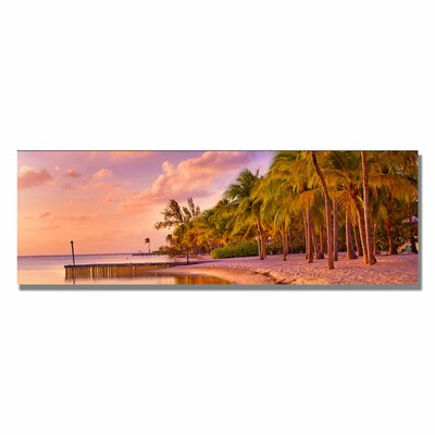 Trademark Fine Art 'Cayman Beach' by Preston Framed Photographic Print on Wrapped Canvas
