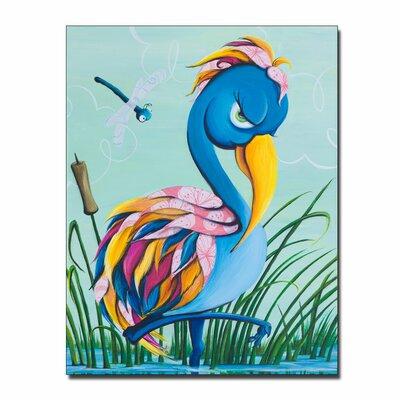 """'Showbird' Canvas Art Size: 19"""" H x 14"""" W x 2"""" D"""
