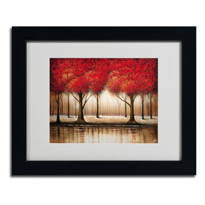 Trademark Fine Art 'Parade of Red Trees' by Rio Framed Painting Print