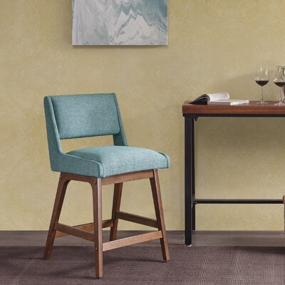 "William 25"" Bar Stool Upholstery: Blue"