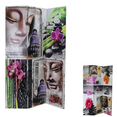 Buddha 3 Panel Room Divider