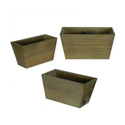 Flower 3-Piece Wood Pot Planter Set (Set of 3)