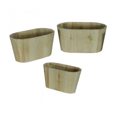 3-Piece Wood Pot Planter Set (Set of 3)