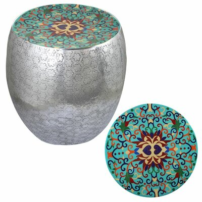 Halaka Damask Art Accent Stool