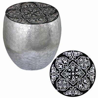 Micco Damask Art Metal Accent Stool