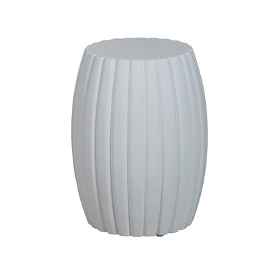 Romola Grooved Drum Accent Stool