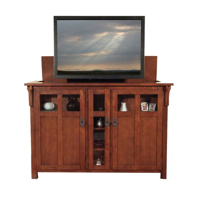 "Bungalow 61.5"" TV Stand Color: Mission Chestnut"