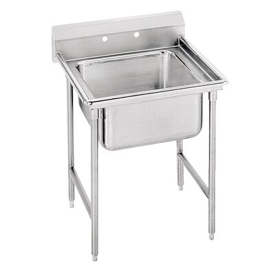 940 Series Single Seamless Bowl Scullery Sink Width: 27""