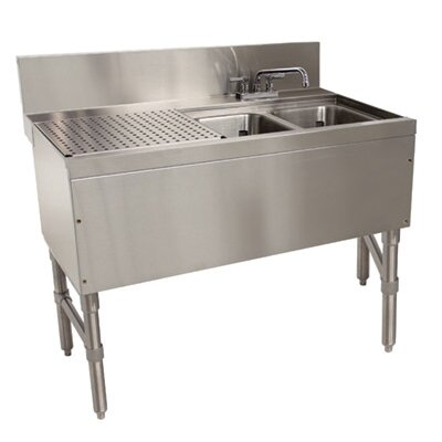 "Prestige Series Free Standing Service Utility Sink with Faucet Size: 36"" H x 48"" L x 25"" W"