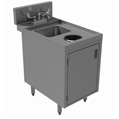 "Prestige Series Built-in 18"" x 30"" Free Standing Laundry Utility Sink with Faucet"