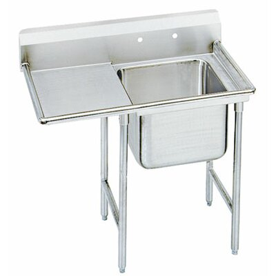 "T-9 Series 81"" x 27"" Single 1 Compartment Scullery Sink"