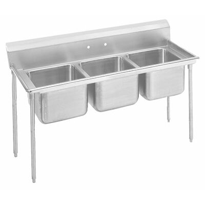 "900 Series 86"" x 31"" Triple Seamless Bowl Scullery Sink"