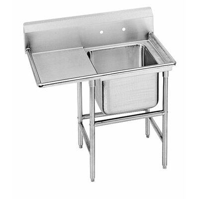 "940 Series 58"" x 27"" Single Seamless Bowl 1 Compartment Scullery Sink"