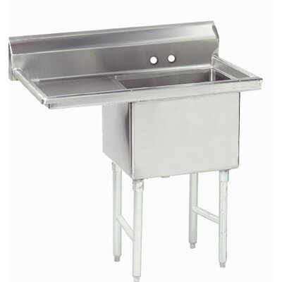 "62.5"" x 29"" Single Fabricated Bowl 1 Compartment Scullery Sink"