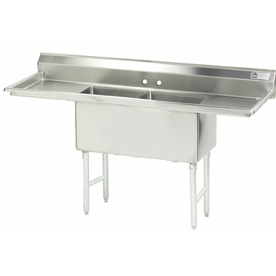 "84"" x 30"" Double Fabricated Bowl Scullery Sink"