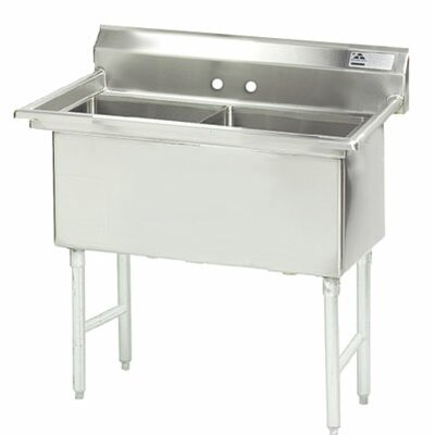 "41"" x 24"" Double Fabricated Bowl Scullery Sink"