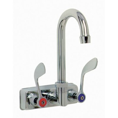 """Wall Mounted Gooseneck Faucet with 4"""" Centers"""