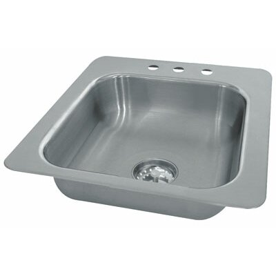 "Single Seamless Bowl 1 Compartment Drop-in Hand Sink Size: 10"" H x 19"" W x 19"" D"