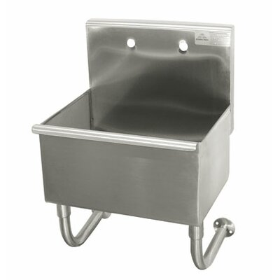 "Single Wall Mounted Service Sink Size: 32"" H x 18"" W x 17.5"" D"