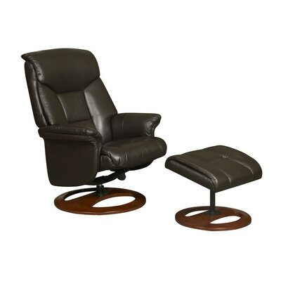 GFA Hampton Faux Leather Swivel Recliner and Footstool